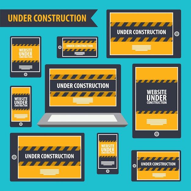 Website under construction. Premium Vector