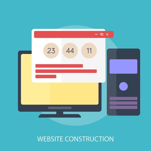 Website construction Premium Vector