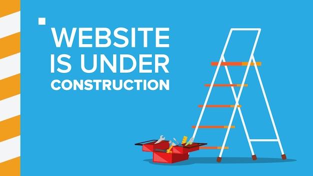 Website under construction Premium Vector