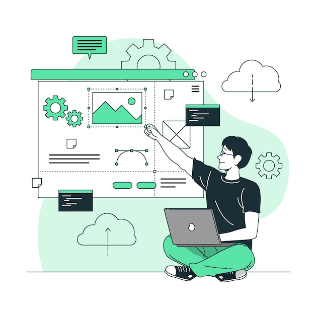 Website creator concept illustration Free Vector