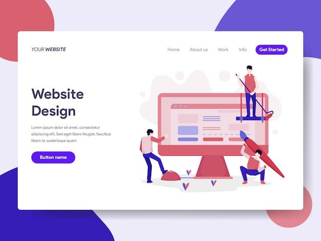 Website design illustration Premium Vector