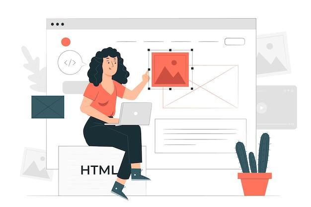 Website designerconcept illustration Free Vector