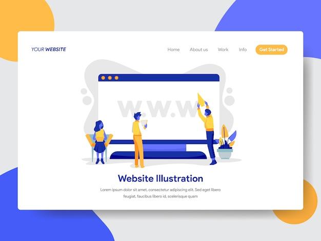 Website and desktop illustration for web page Premium Vector