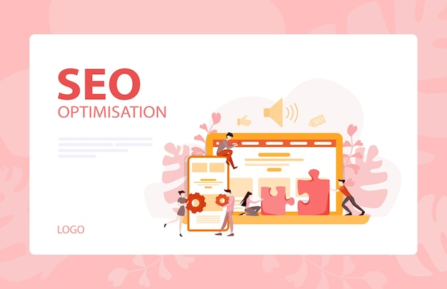 Website development banner. web page programming and making responsive interface on computer.  illustration Premium Vector
