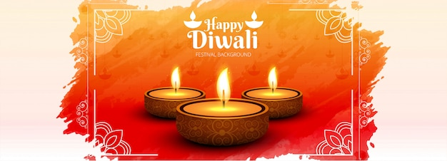 Website header or banner  with diwali festival Free Vector