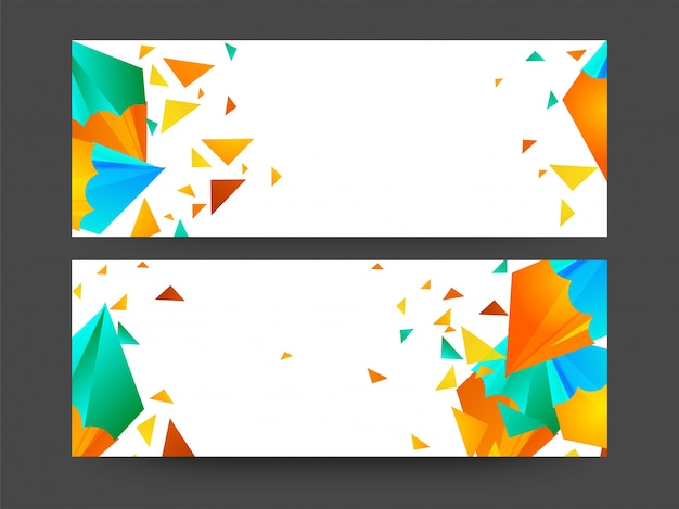 Website Header Or Banner Decorated With Colorful Abstract