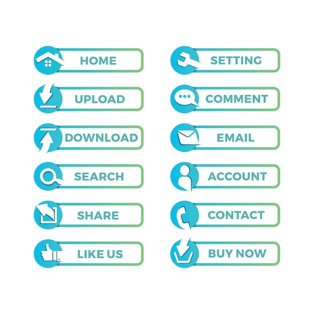 Website icon design Free Vector