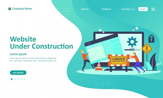 Website is under construction landing page Premium Vector