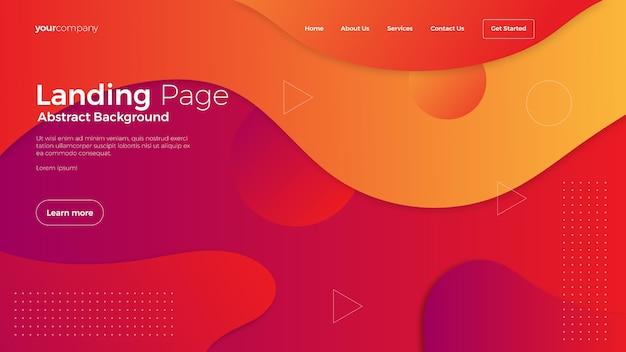 Website landing page background Premium Vector