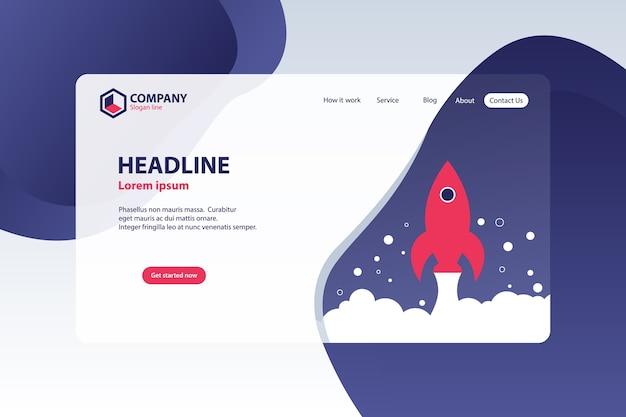 Website landing page vector template design concept Premium Vector