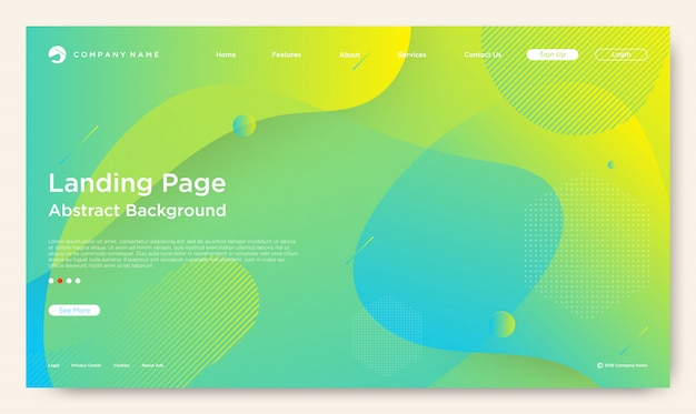 Website landing page Premium Vector