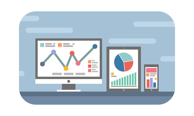 Website and mobile analytics concept Premium Vector
