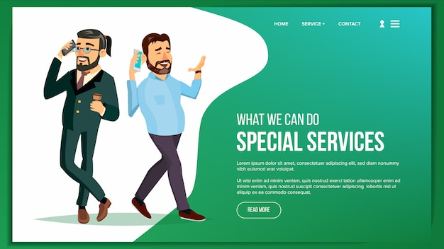 Website page Premium Vector