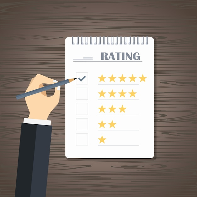 Website rating feedback and review Free Vector