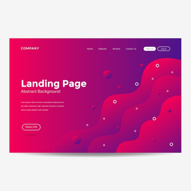 Website template landing page background modern Vector ...