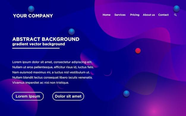Website template with gradient color Premium Vector