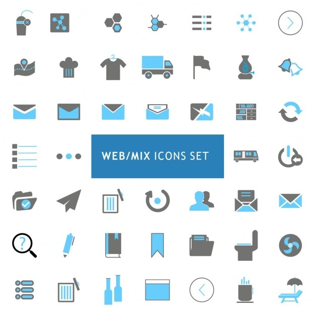 Websites icons set Free Vector