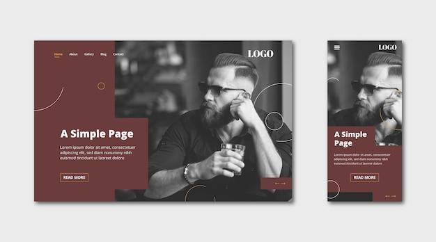 Целевая страница webtemplate для простой страницы Бесплатные векторы