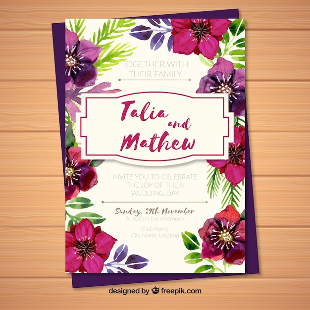Wedding Anniversary Card Invitation Vector Free Download