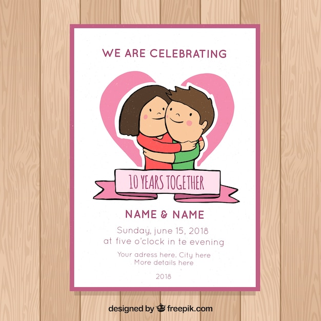 It is a photo of Gratifying Free Printable Anniversary Cards for Couple