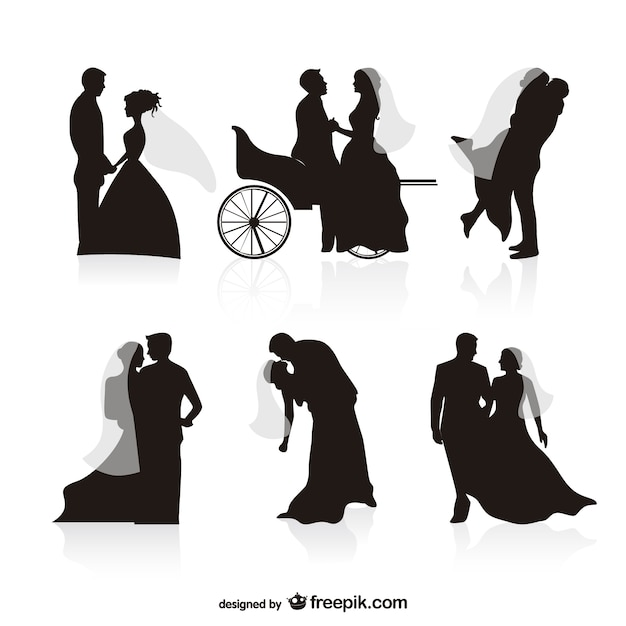 Wedding black silhouettes vectors vector free download wedding black silhouettes vectors free vector junglespirit Choice Image