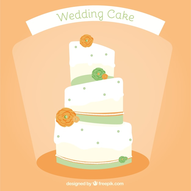 Wedding cake Vector   Free Download