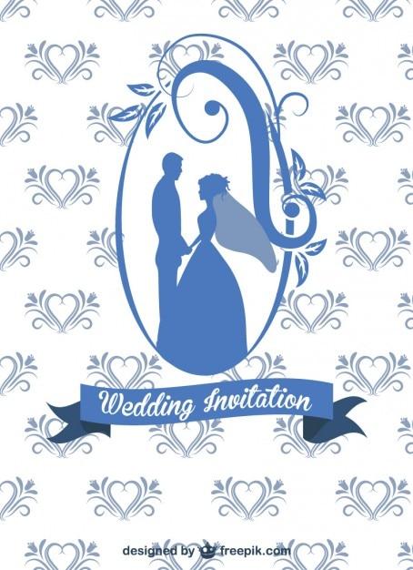 Wedding Card Design Free Vector