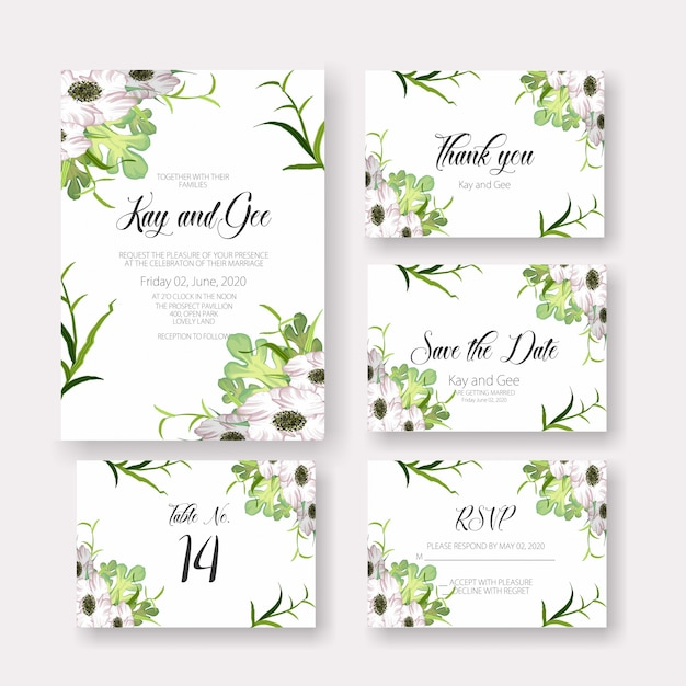 Wedding card invitation template Premium Vector