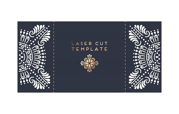 Wedding card laser cut card Free Vector