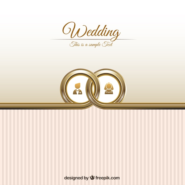 Wedding Card Template Vector | Free Download