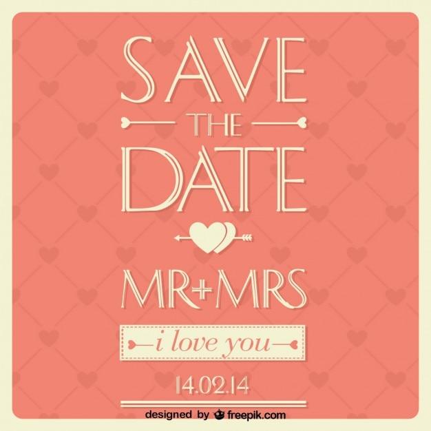 Wedding card typographic design Vector | Free Download
