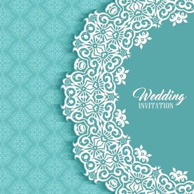 Wedding Card With A Cute Ornamental Frame Vector Free Download