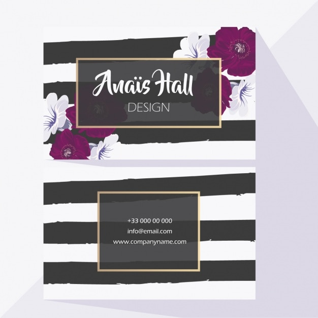 Wedding card with black lines Free Vector