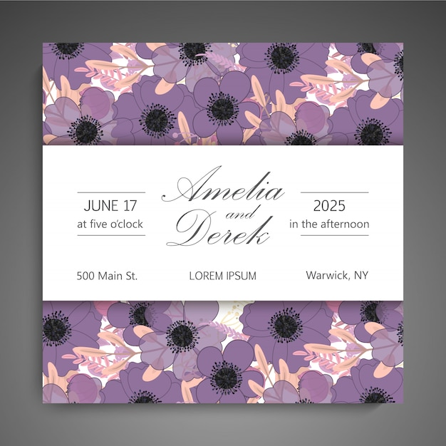 Wedding card Premium Vector