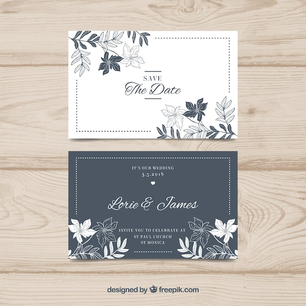 Wedding card Free Vector