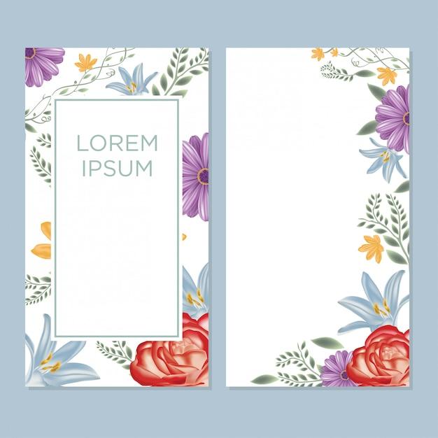Wedding card Premium Vector