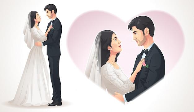 Wedding couple Premium Vector