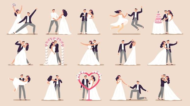 Wedding couples. Premium Vector