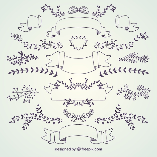 Wedding decoration collection vector free download wedding decoration collection free vector junglespirit Images