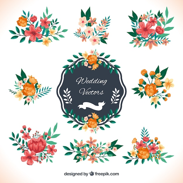 Wedding decoration in floral style vector free download wedding decoration in floral style free vector junglespirit Gallery