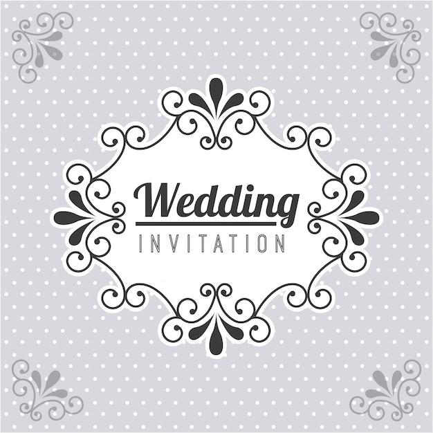 Wedding design over dotted  background vector illustration Premium Vector