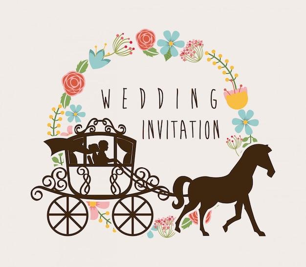 Wedding design over white background vector illustration Premium Vector