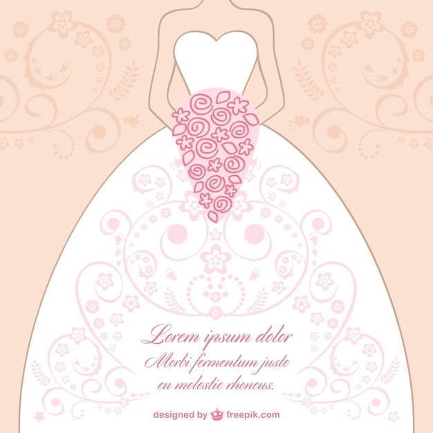 Wedding Dress Lace Design Vector Vector