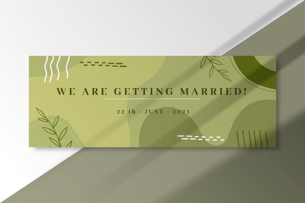Wedding facebook cover template Free Vector