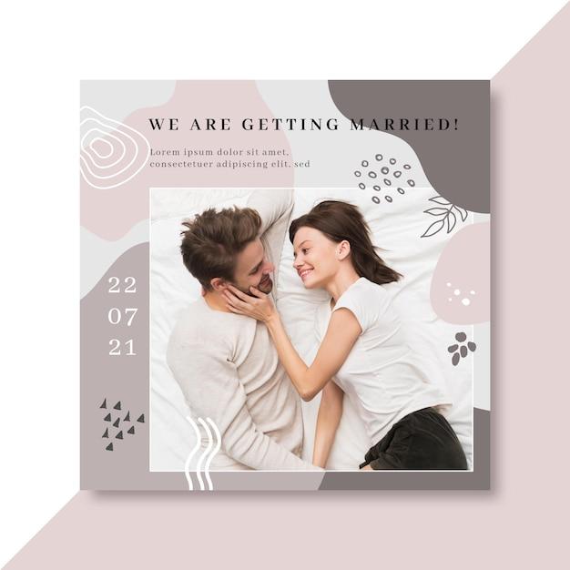 Modello di post di matrimonio su facebook Vettore gratuito