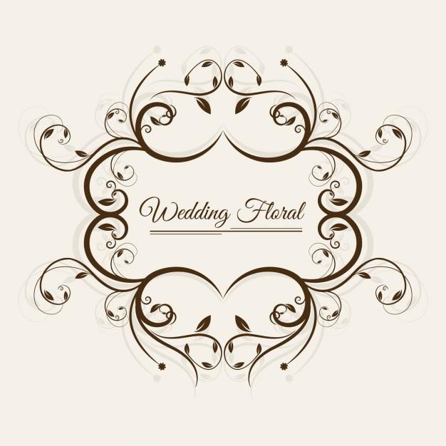 Wedding Flowers Vector Free Download : Wedding floral frame vector free download