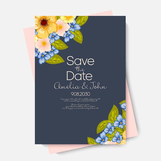 Свадебные цветочные Бесплатные векторы