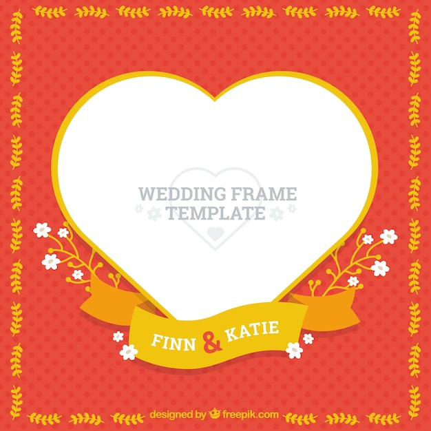 Awesome Wedding Frame Template Free Vector