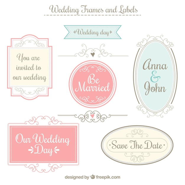 Wedding frames and labels vector premium download wedding frames and labels premium vector stopboris Choice Image