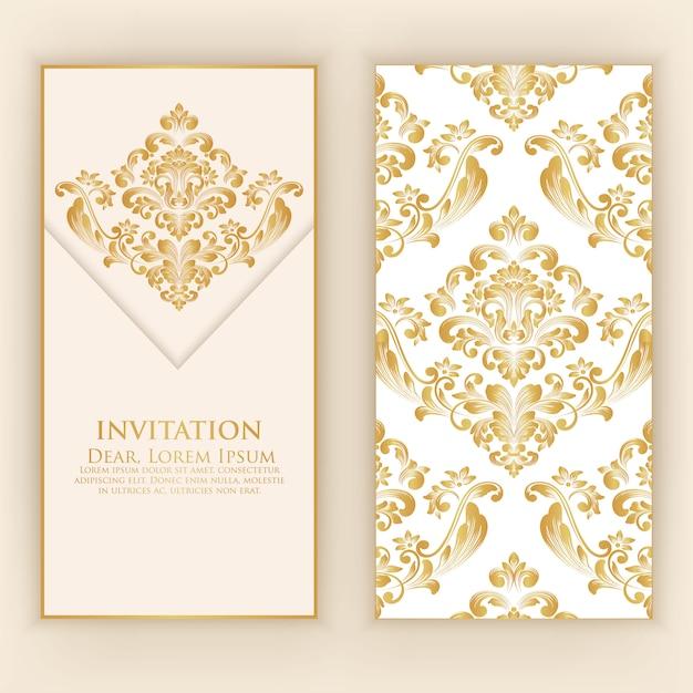 結婚式の招待状とお知らせカード 無料ベクター